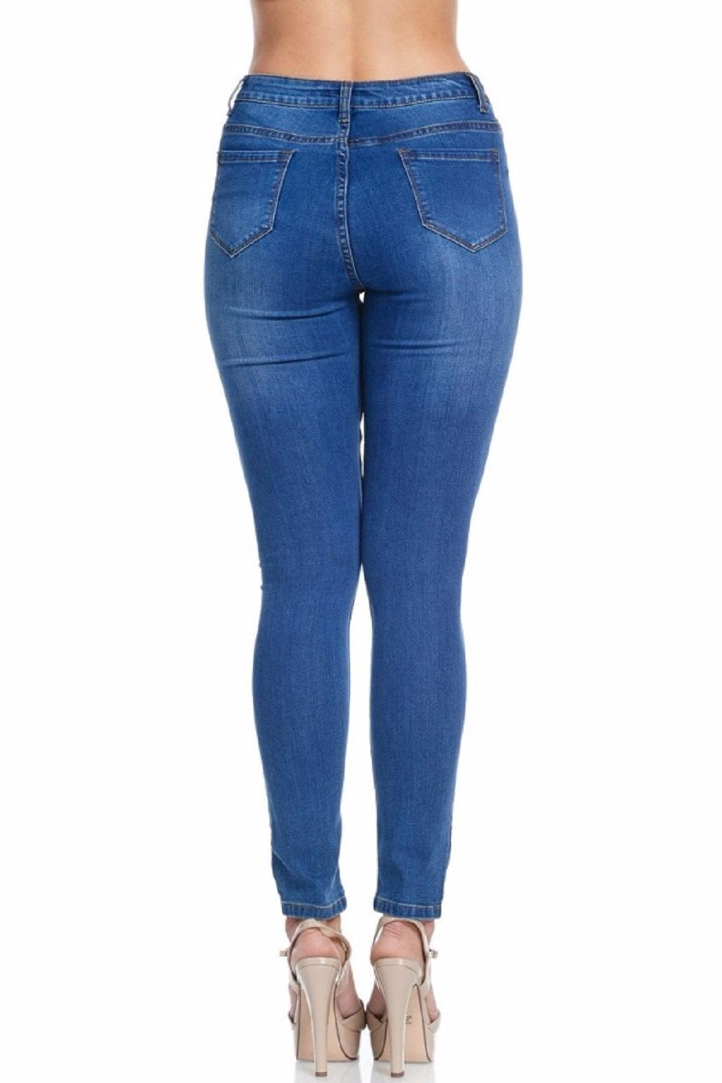 American Bazi Classic Blue Jeans - Back Cropped Image