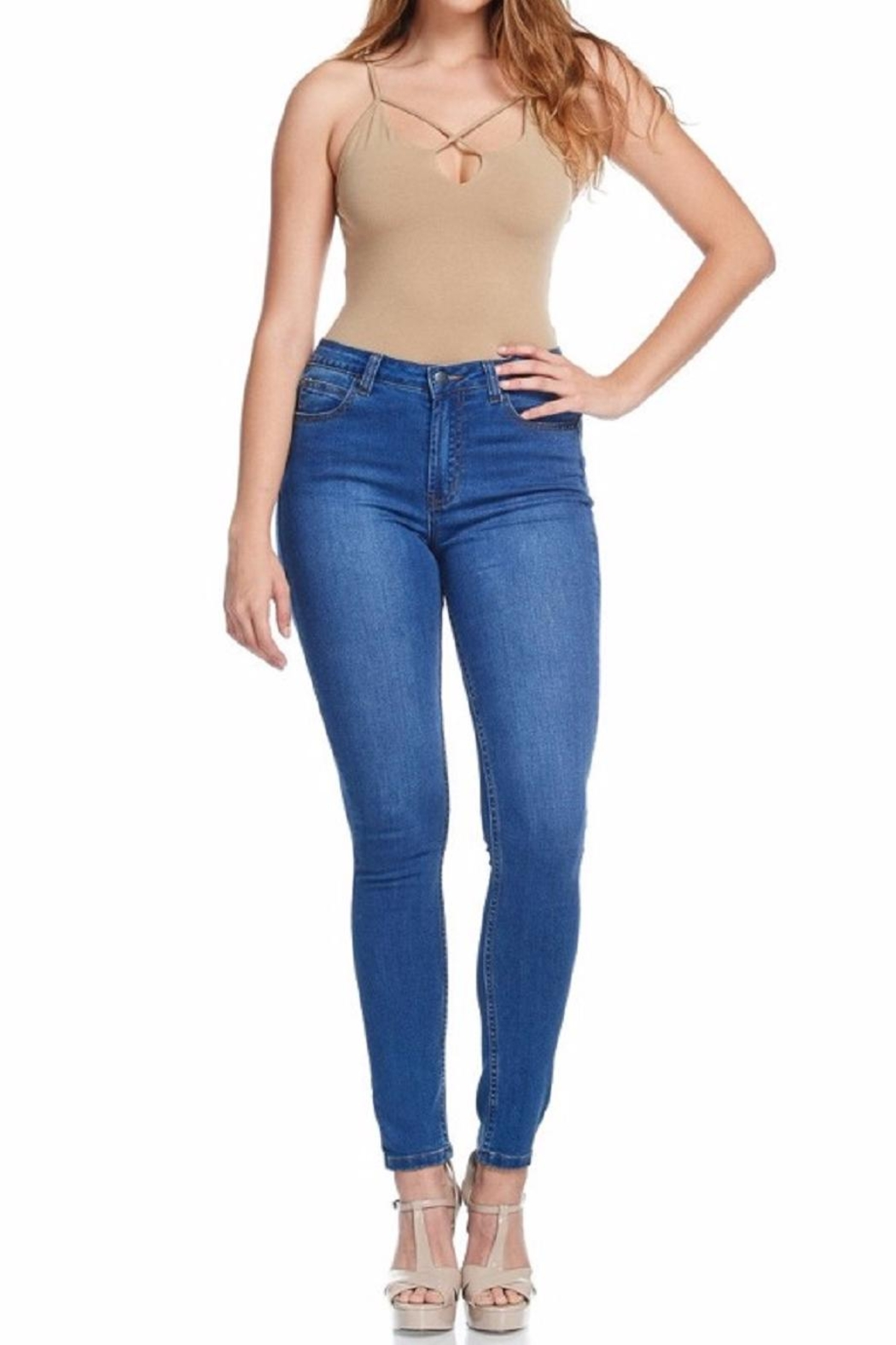American Bazi Classic Blue Jeans - Front Cropped Image