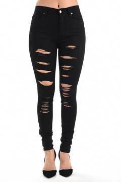 American Bazi Distressed Black Jeans - Product List Image