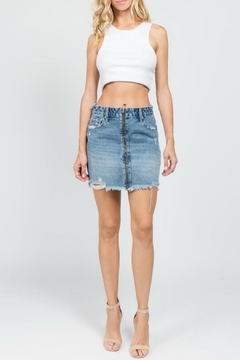 Shoptiques Product: Distressed Zipper Skirt