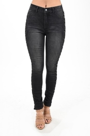American Bazi Lace Me-Up Jeans - Product Mini Image