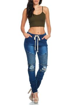 Shoptiques Product: Moto Ripped Jeans