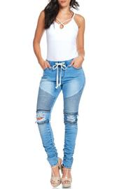 American Bazi Moto Jogger Jeans - Front cropped