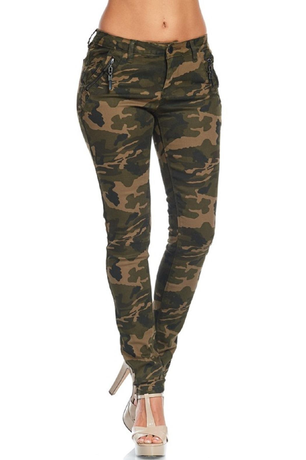American Bazi Washed Camo Pants - Side Cropped Image
