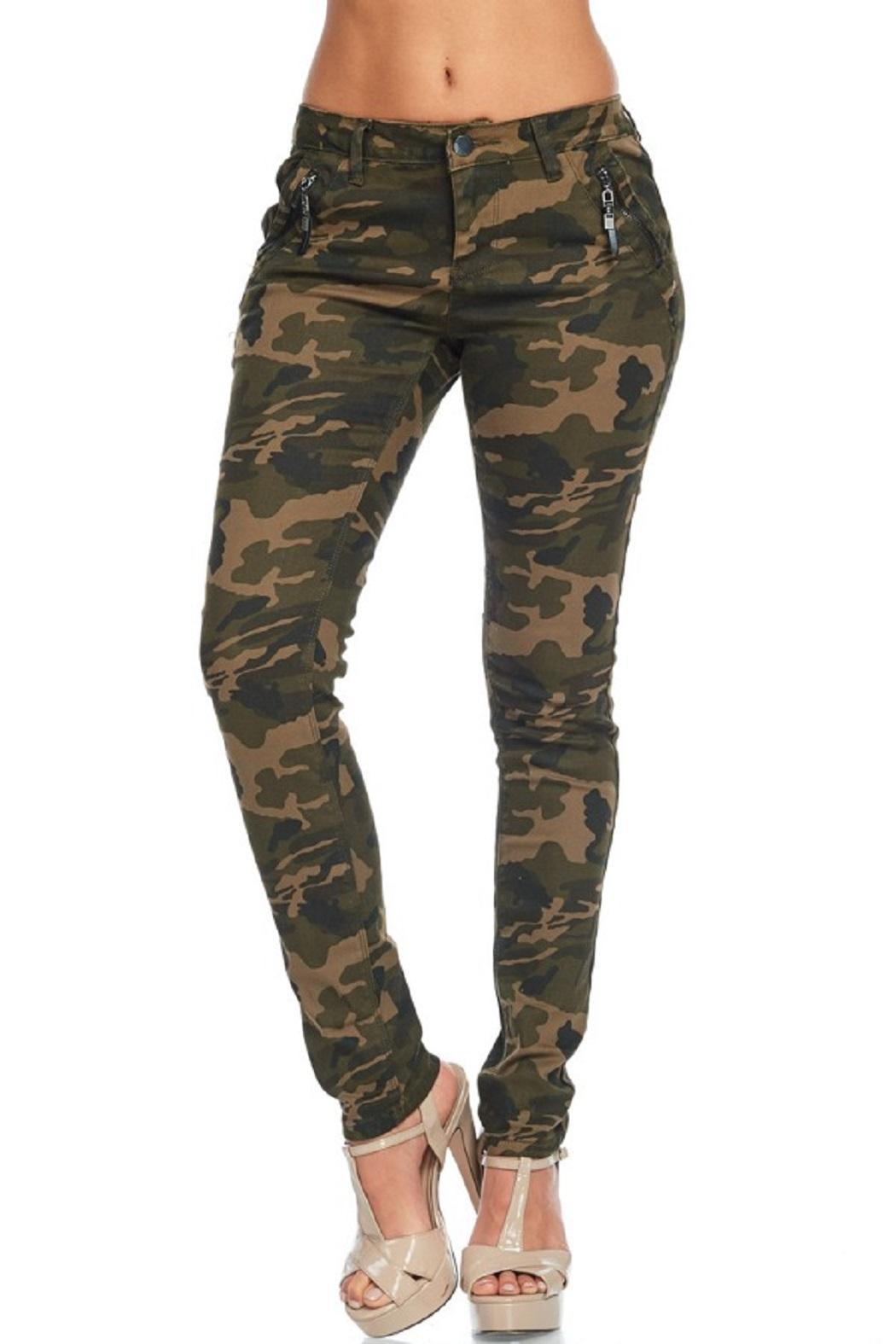 American Bazi Washed Camo Pants - Front Full Image