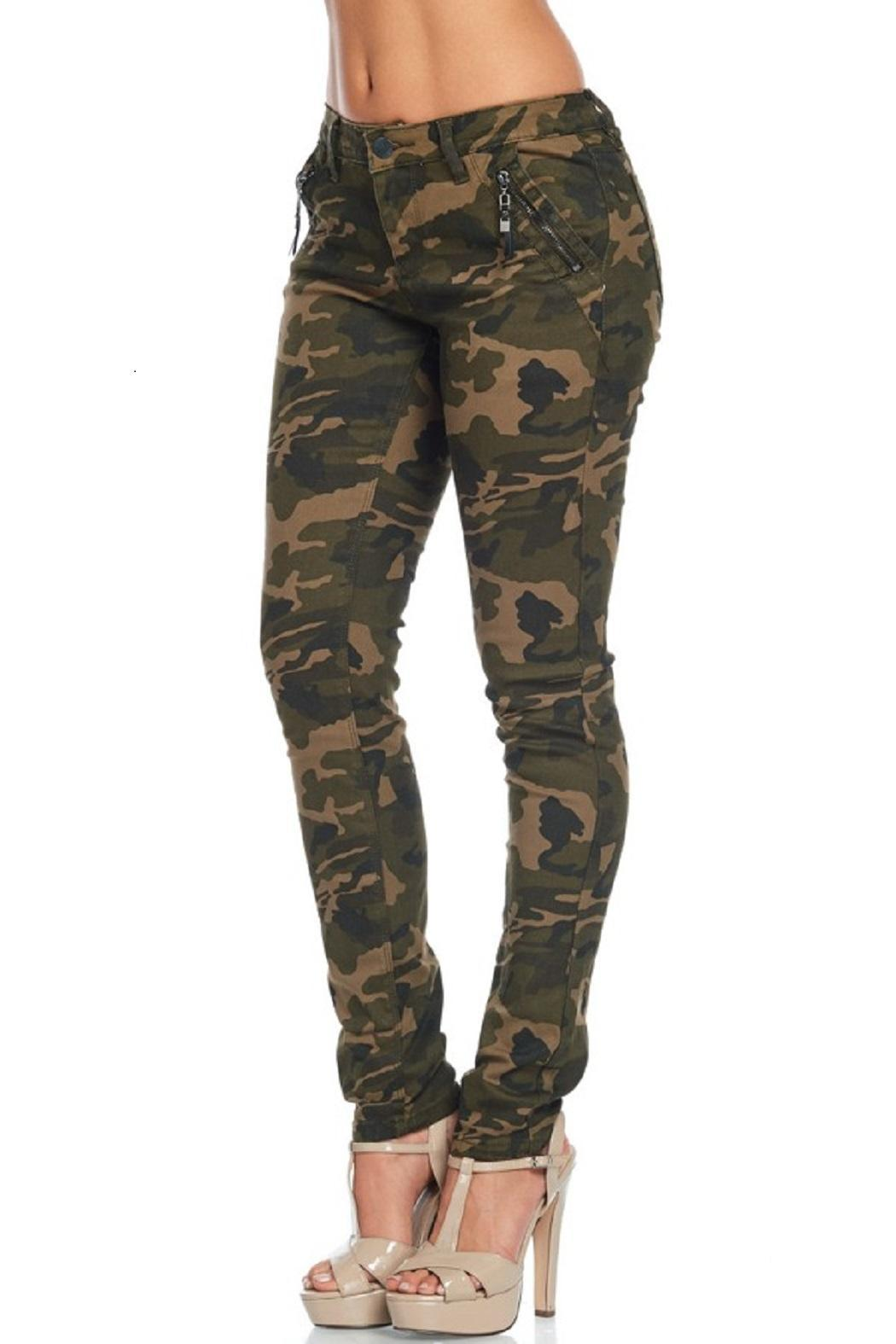 American Bazi Washed Camo Pants - Back Cropped Image