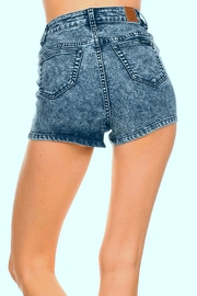 American Blue Acid Wash Shorts - Front full body