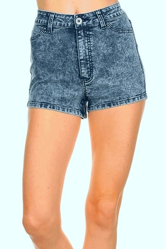 American Blue Acid Wash Shorts - Product List Image