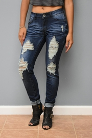 American Blue Dark Distressed Denim - Product Mini Image