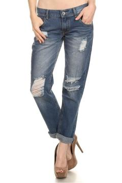 American Blue Distressed Boyfriend Jeans - Product List Image