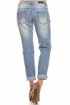American Blue Distressed Cropped Jean - Alternate List Image