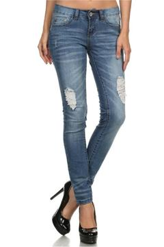 American Blue Faded Distressed Jeans - Product List Image