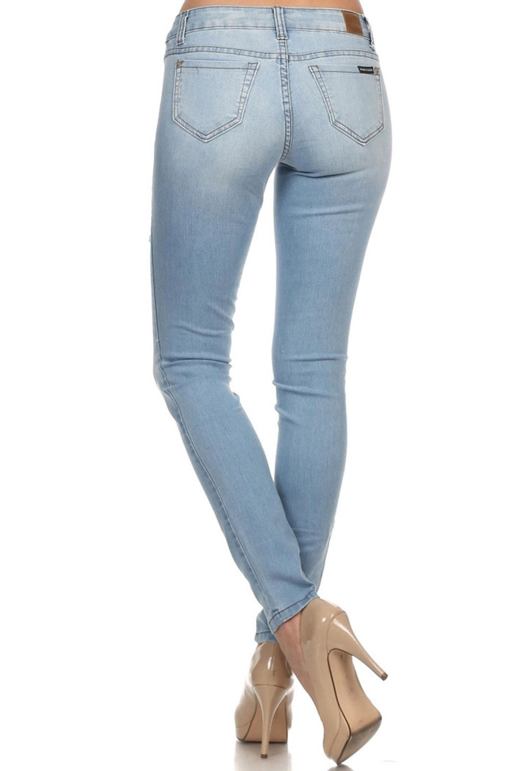American Blue Victoria Distressed Jeans - Front Full Image