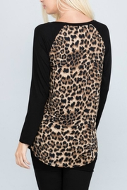 American Chic Animal Print Tunic - Side cropped