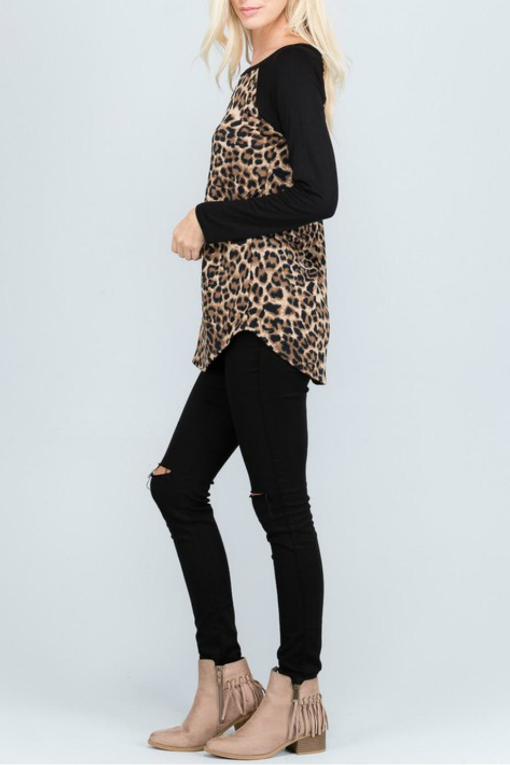American Chic Animal Print Tunic - Back Cropped Image