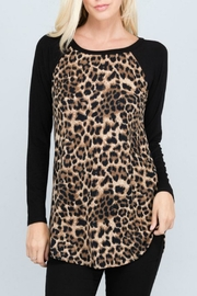 American Chic Animal Print Tunic - Front full body