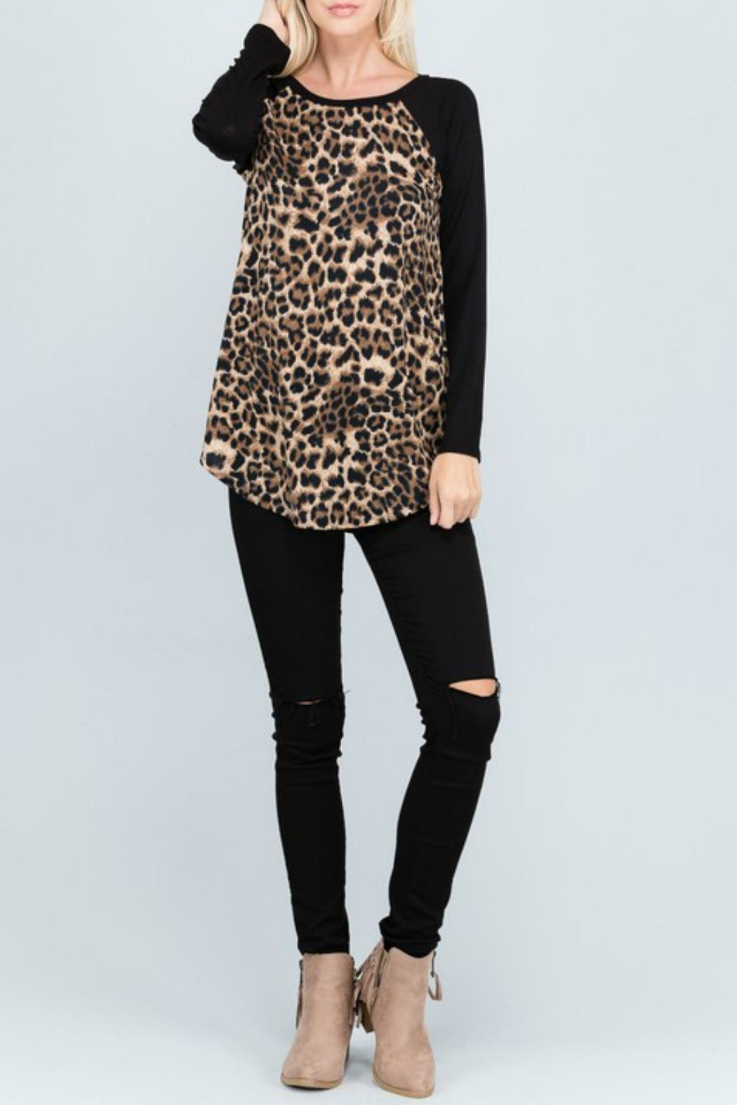 American Chic Animal Print Tunic - Main Image
