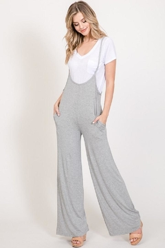 American Chic Wide-Leg Suspender Jumpsuit - Product List Image