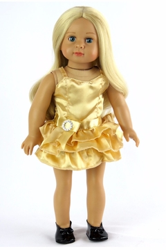 American Fashion World Doll Gold Dress - Product List Image