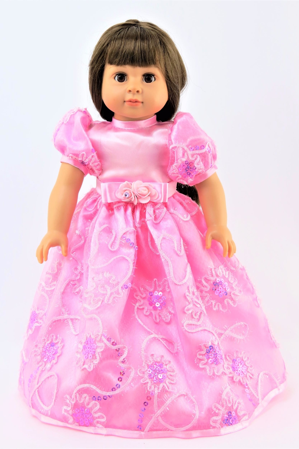American Fashion World Doll Pink Gown - Main Image