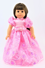 American Fashion World Doll Pink Gown - Front cropped