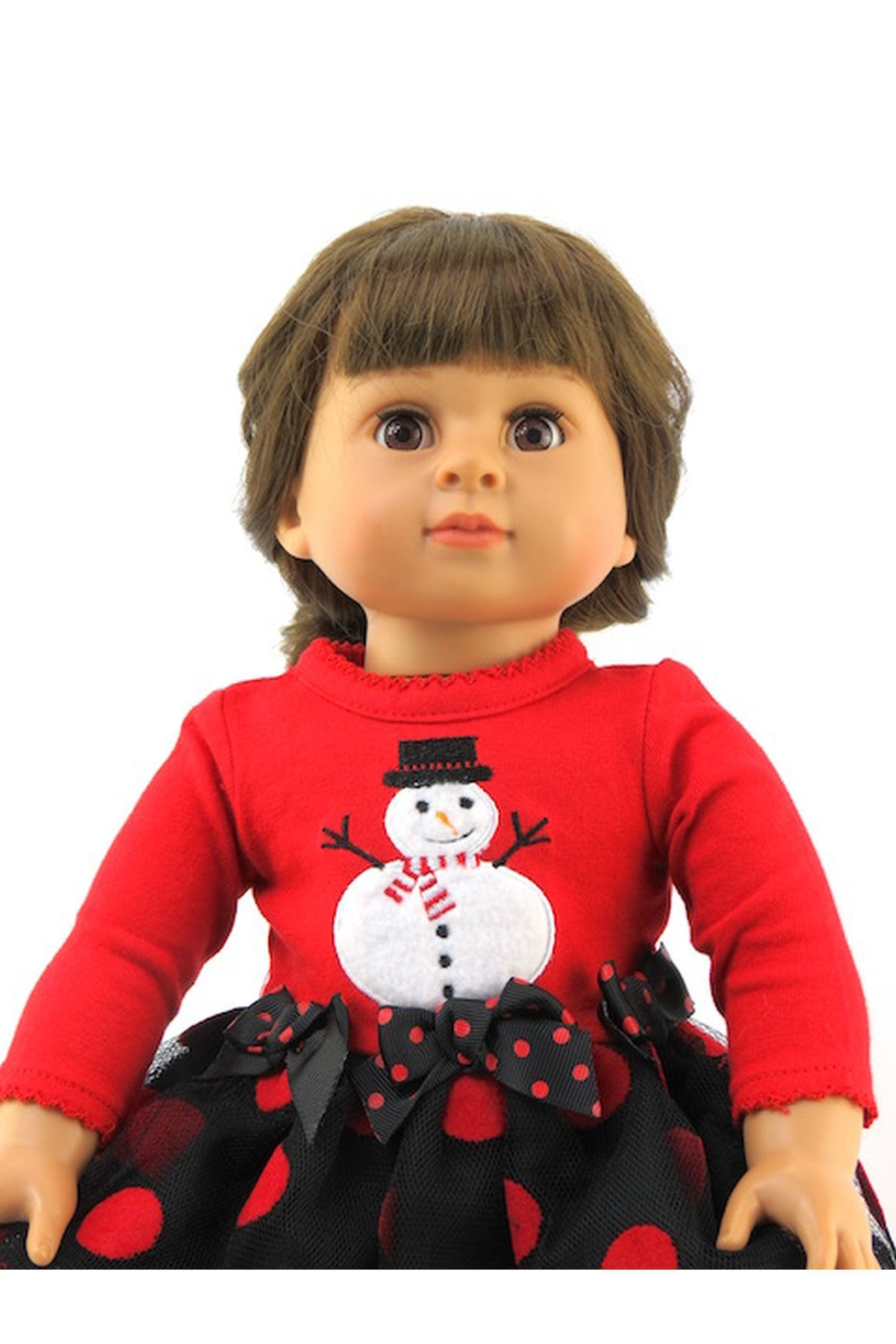 American Fashion World Doll Snowman Dress - Front Full Image