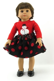 American Fashion World Doll Snowman Dress - Front cropped