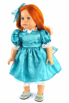 American Fashion World Doll Teal Dress - Product List Image