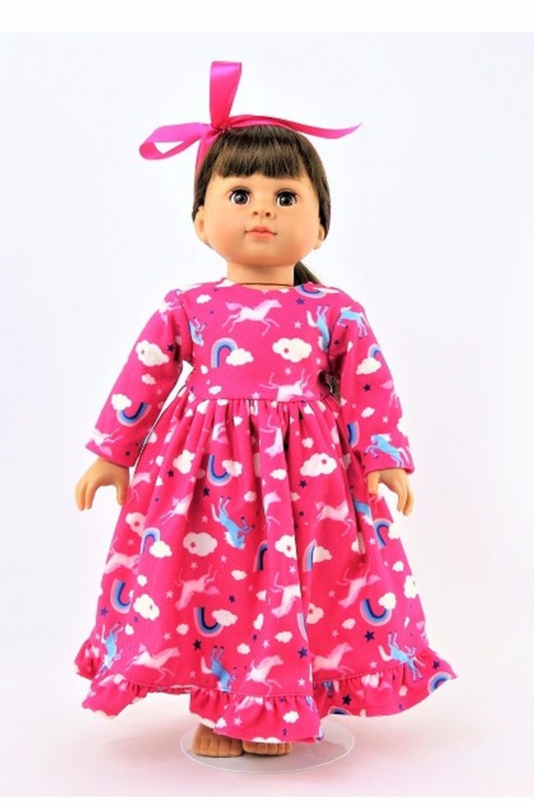 American Fashion World Doll Unicorn Nightgown - Front Cropped Image