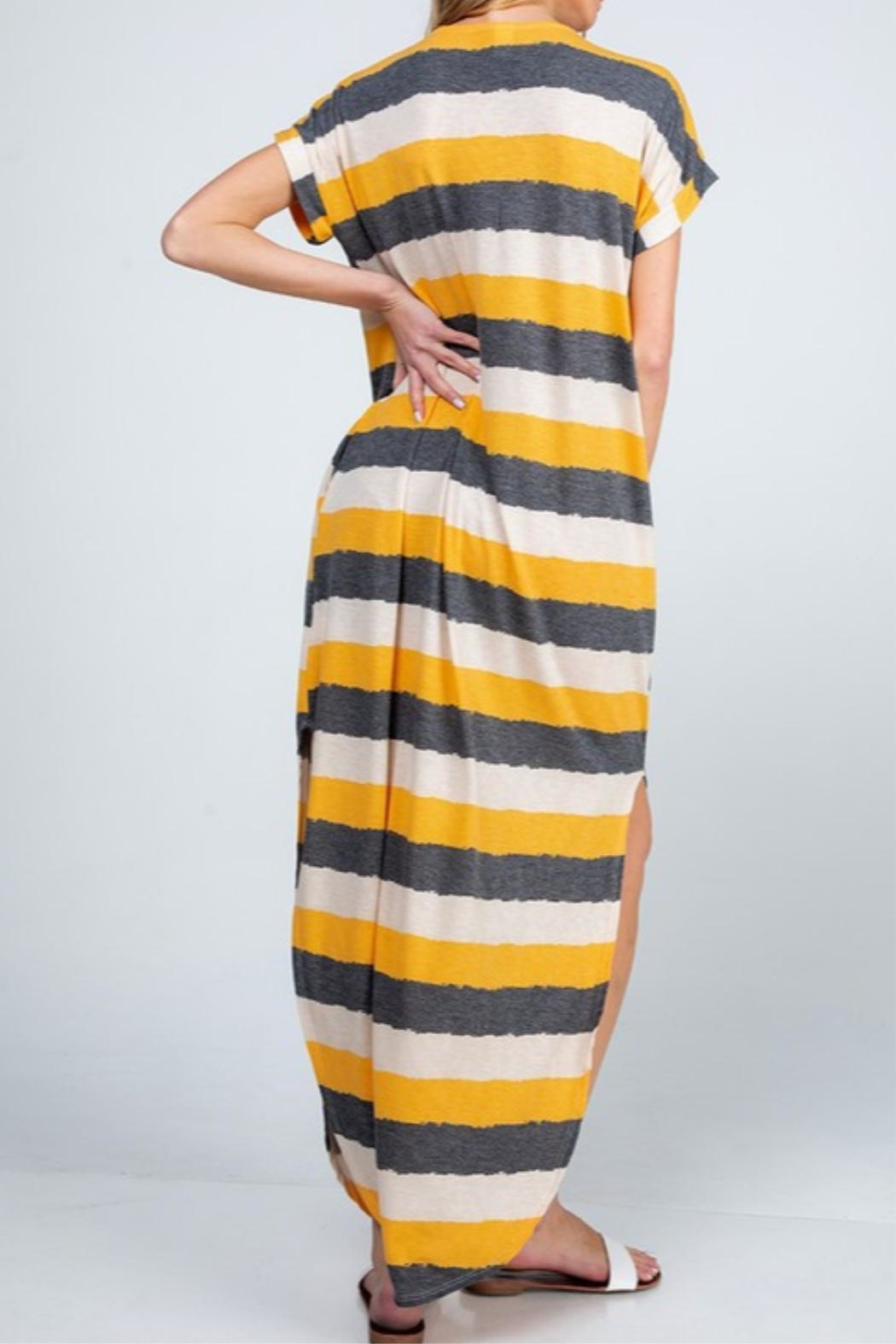 American Fit Tina Striped Dress - Side Cropped Image