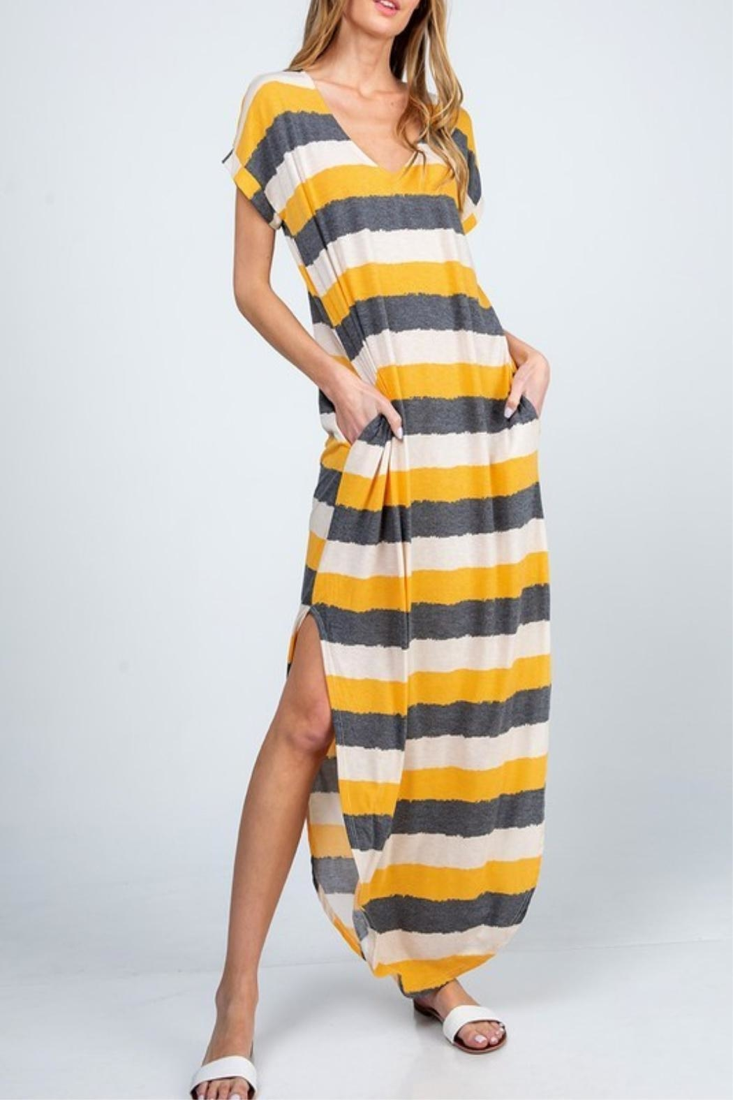 American Fit Tina Striped Dress - Front Full Image