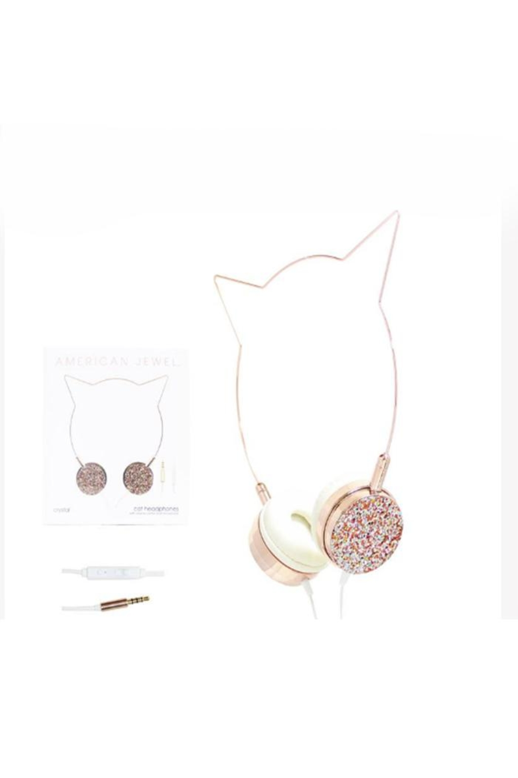 American Jewel Glitter Kitty Headphones - Main Image