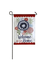 Evergreen Enterprises Americana Floral Flag - Product Mini Image