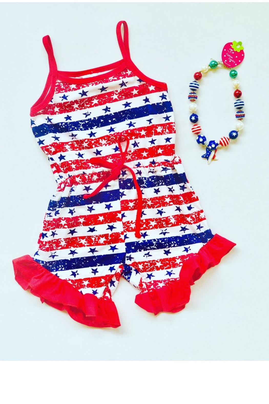 HONEYDEW Americana Romper - Front Cropped Image