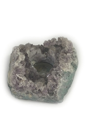 Blue Ocean Traders Amethyst Candle Holder - Front cropped