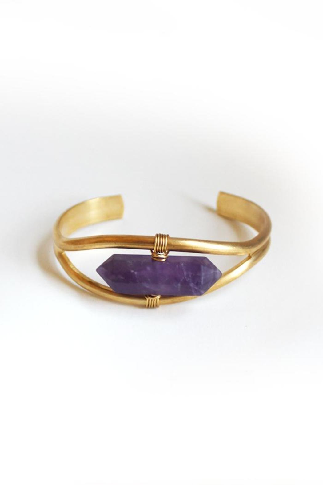 Larissa Loden Amethyst Cuff Bracelet - Front Cropped Image