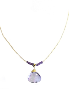 Shoptiques Product: Amethyst Drop Necklace