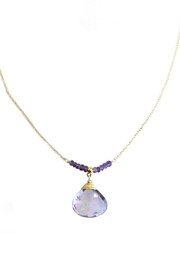 Malia Jewelry Amethyst Drop Necklace - Product Mini Image