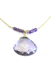 Malia Jewelry Amethyst Drop Necklace - Front full body