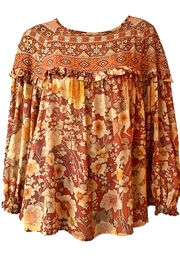 Spell & the Gypsy Collective Amethyst Flowy Blouse - Product Mini Image