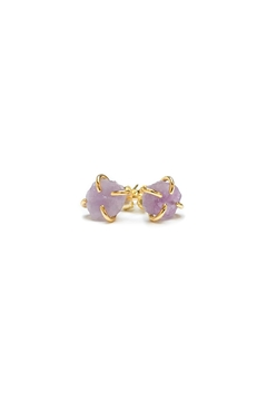 JaxKelly Amethyst Gemstone Prong Earrings - Product List Image