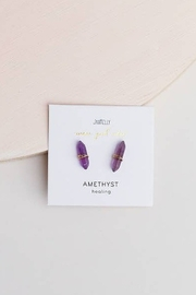 JaxKelly Amethyst Mineral Points - Front full body
