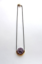 Larissa Loden Amethyst Moon Necklace - Product Mini Image