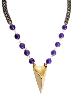 Shoptiques Product: Amethyst Peak Necklace