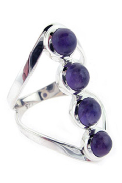 Crystal Earth Amethyst Stone Ring - Product List Image