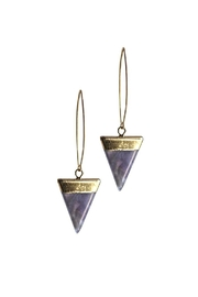 Larissa Loden Amethyst Triangle Earrings - Product Mini Image