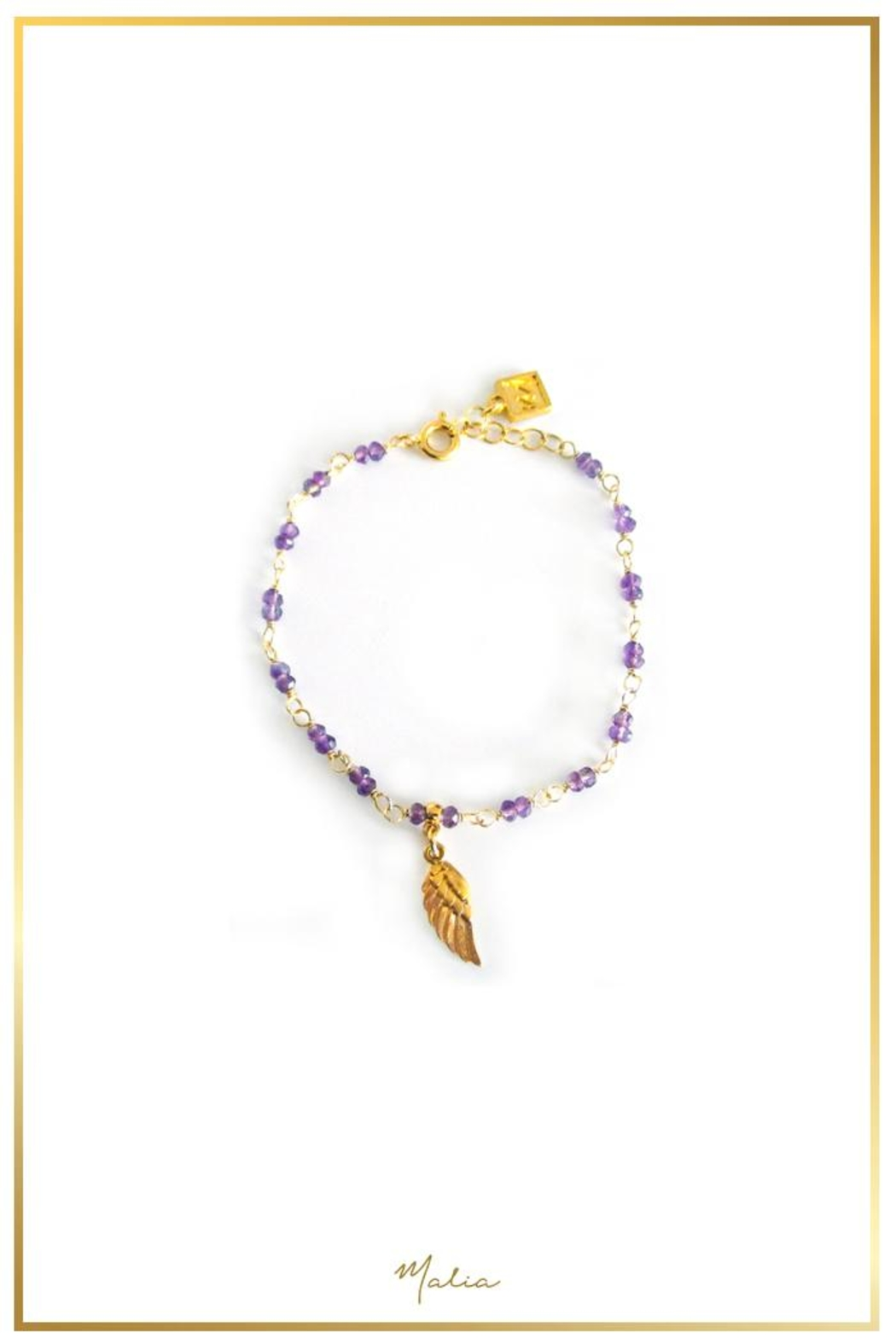 Malia Jewelry Amethyst Wing Bracelet - Front Cropped Image