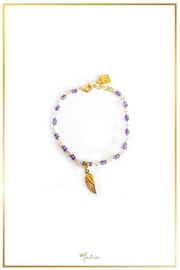 Malia Jewelry Amethyst Wing Bracelet - Product Mini Image