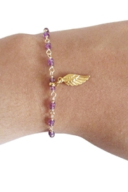 Malia Jewelry Amethyst Wing Bracelet - Front full body