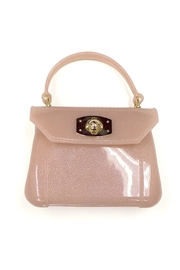 Amiana Glitter Jelly Purse - Front cropped